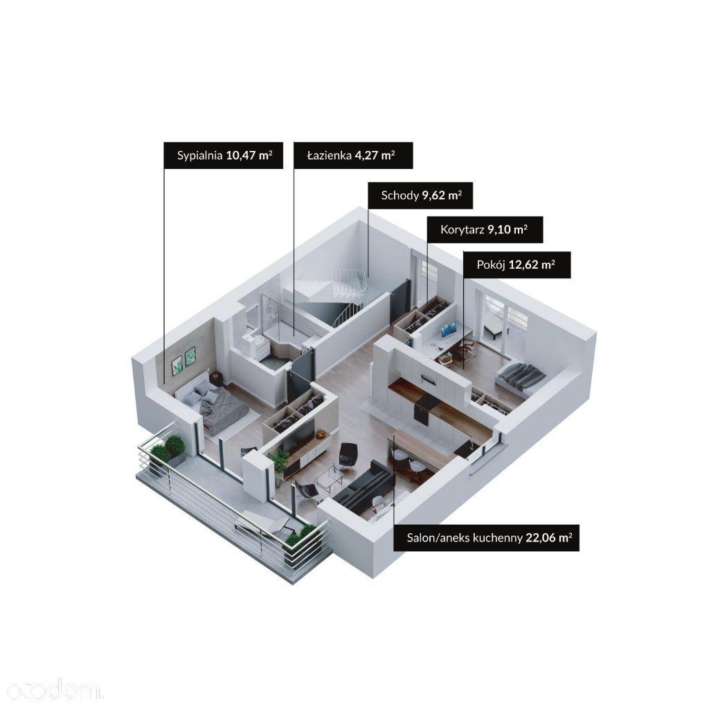 Srebrna 1B - Apartament 117m2 + 20m2 balkonów