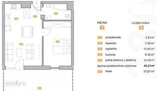 """""""NOWA KIELECKA"""" - dwupokojowe mieszkanie z tarasem"""