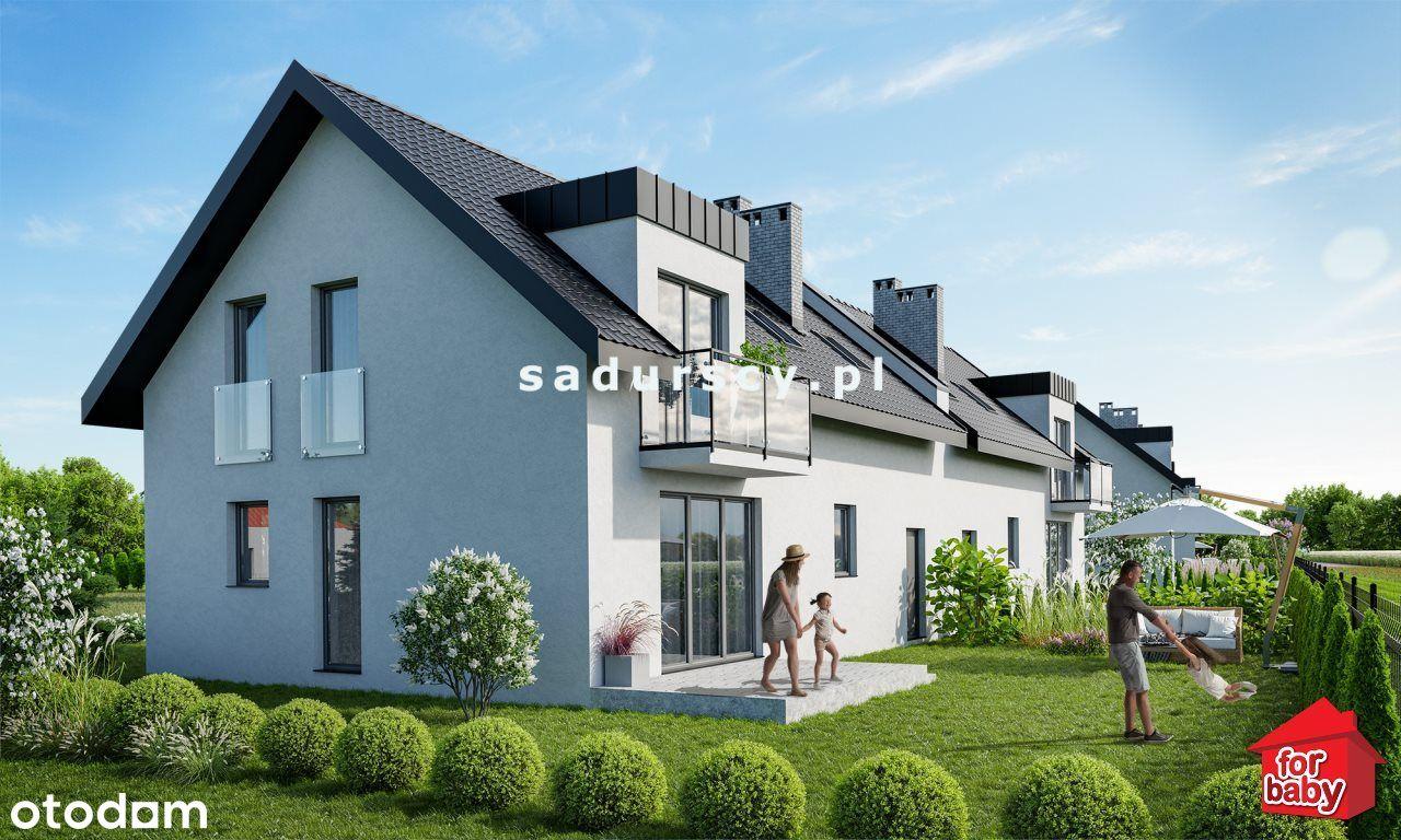 gm. Wieliczka - nowe osiedle sześciu domów.