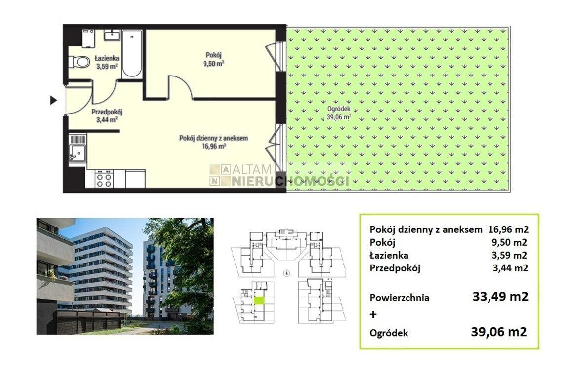 2pok 33,5m2 ogródek|park|tramwaj|Mistrzejowice|0%
