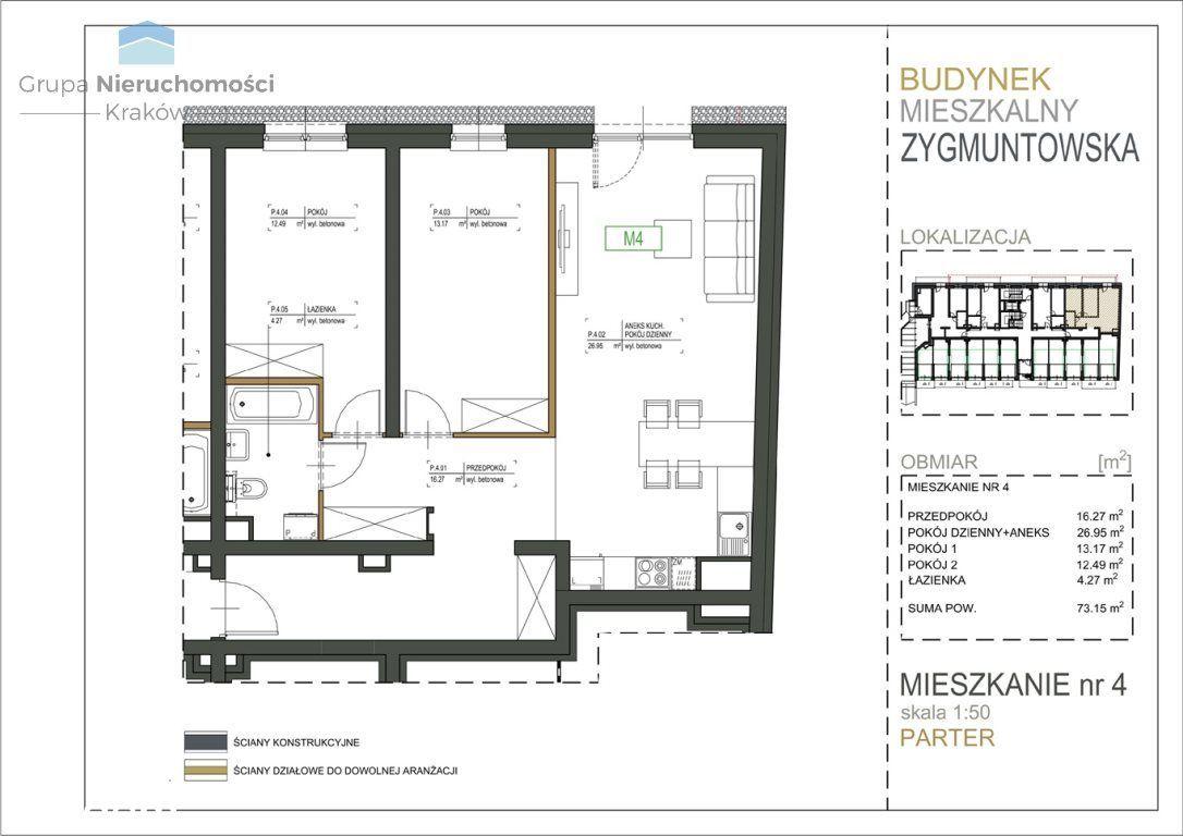 Kraków - Nowe mieszkanie - Zygmuntowska 30