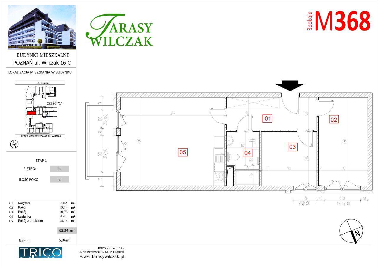 Tarasy Wilczak mieszkanie nr 368
