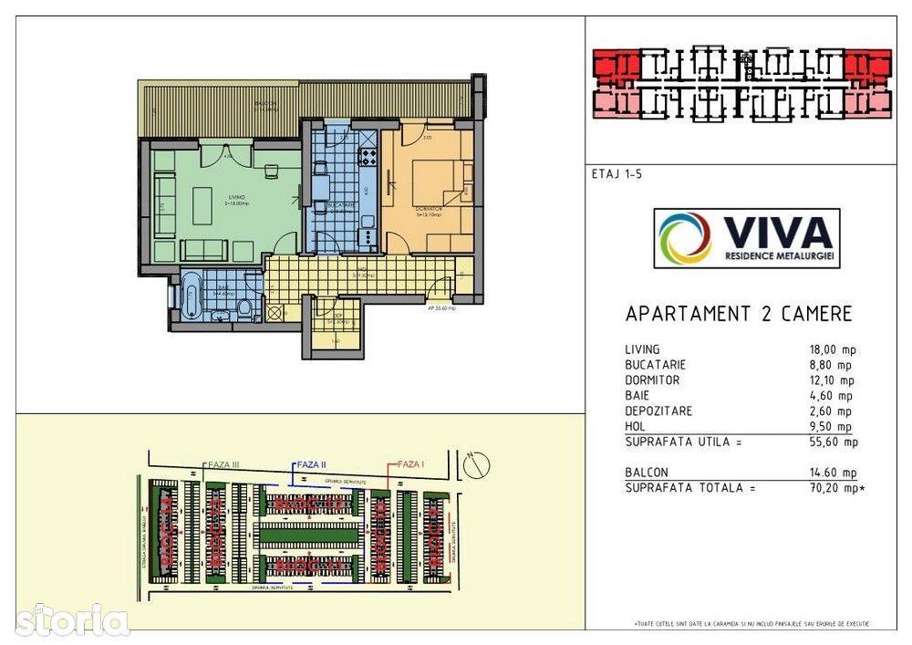 Apartament 2 camere- metrou Aparatorii Patriei-zona Metalurgiei Park