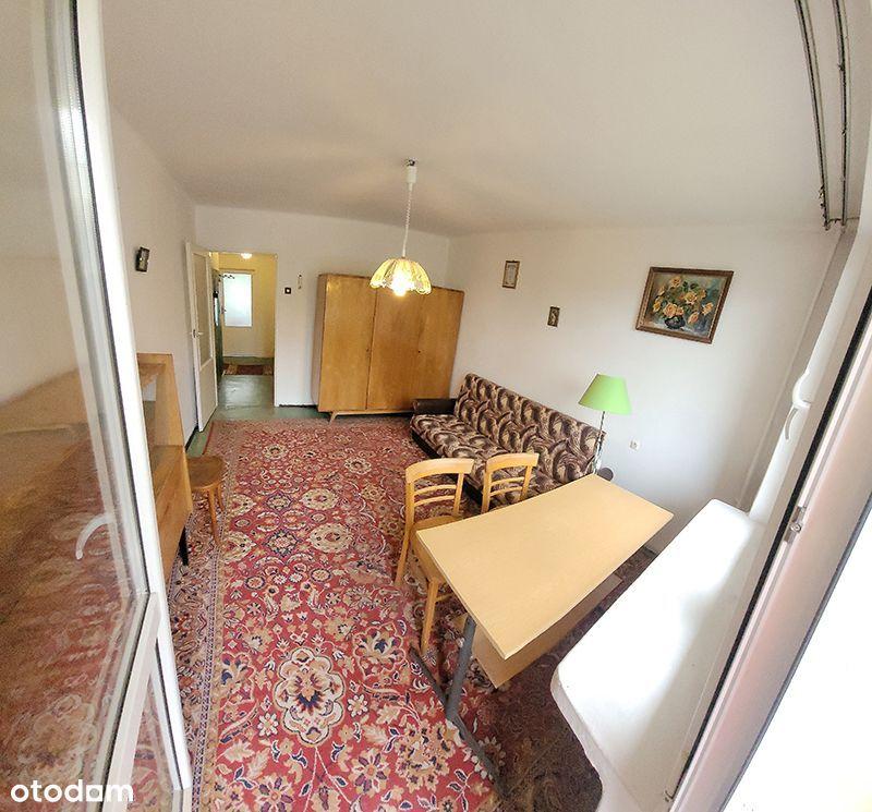 Mieszkanie 42.8m2, 2 pokoje, balkon.