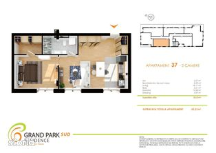 Apartament 2 camere Grand Park Sud direct de la dezvoltator