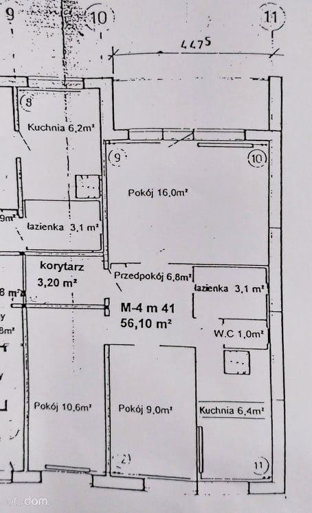Mieszkanie 3-pokojowe 56,1m2 Os. Jagiellońska