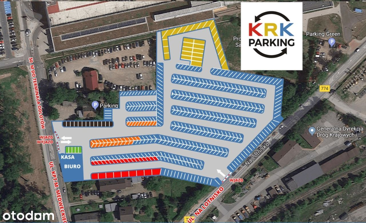 Działający parking i powierzchnie biurowe, Balice