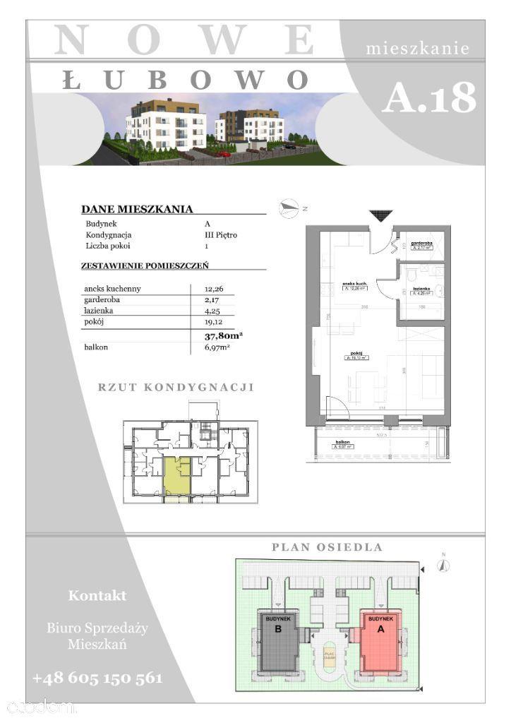 Mieszkania 38m2 Łubowo/Gniezno