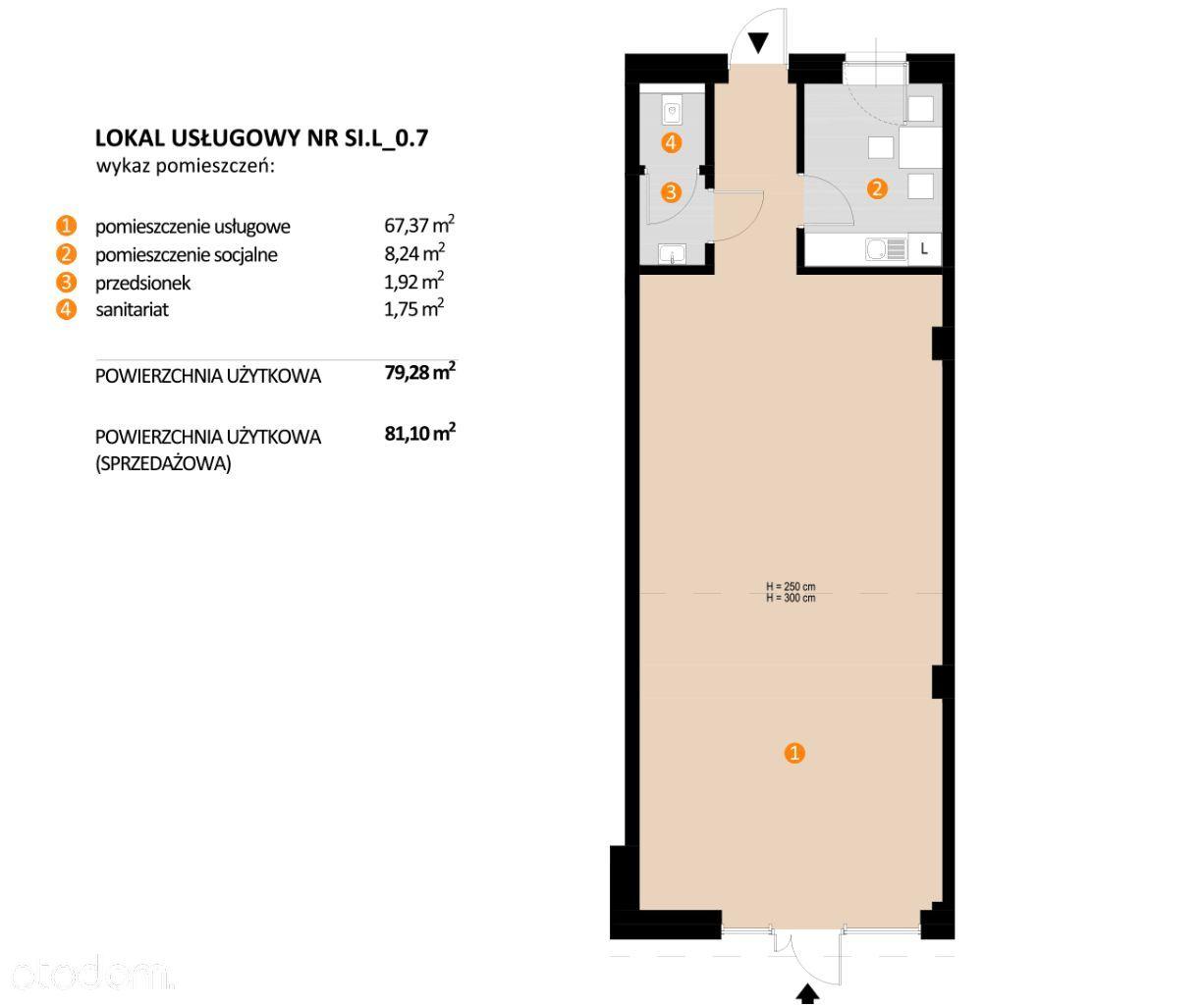 Lokal usługowy - 80,10 m2 - centrum starego miasta
