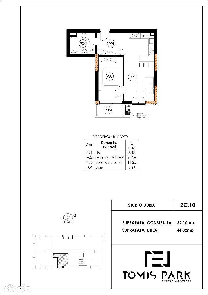 Apartament, 52 m²,
