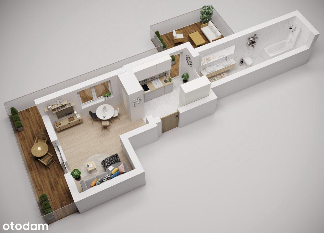 Mieszkanie 32m2  TARAS  balkon  Parking  Podgórze