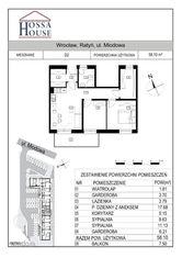 D2 - 3 pok, 2 garderoby + balkon 7,5 m, 1p./2p.