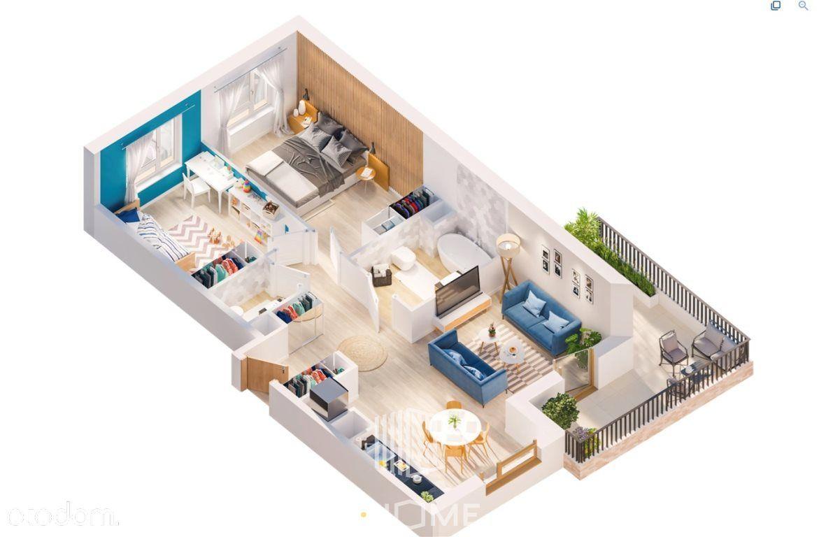 3 pokoje 66,66 m2 z duuużym balkonem 14 m2! Aow!