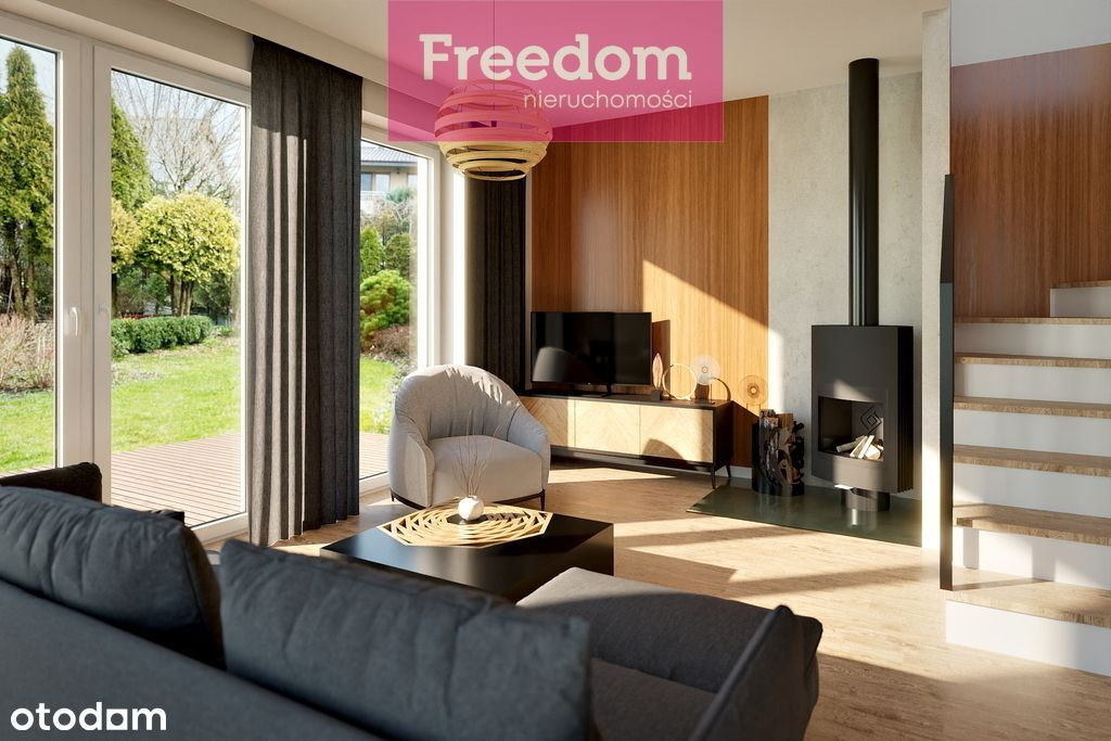 Nowe osiedle funkcjonalnych domów z dużą działką