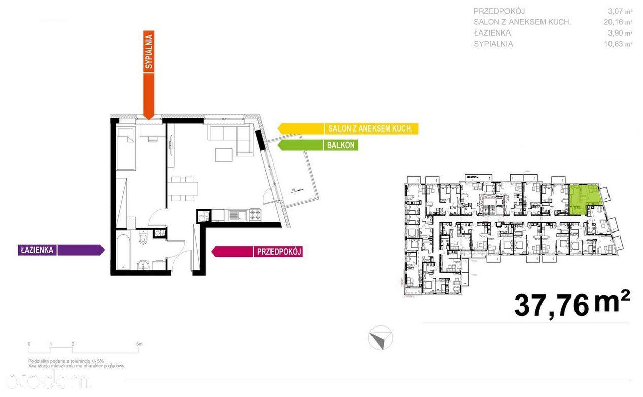 Apartament 38m2, 2 pokoje, Bezpośrednio!