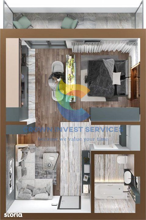 Apartament 1 camera, Copou, zona Sadoveanu, etajul 8, semidecomandat