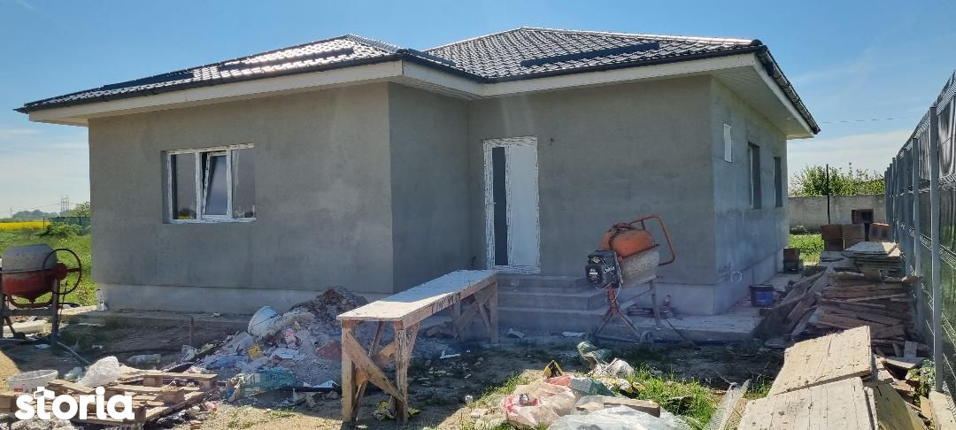 Clinceni zona Politie, Casa parter cu placa beton