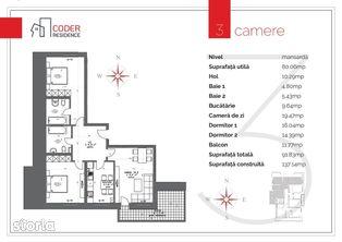 Apartament 3 camere Coder Residence 3