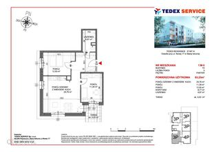 Nowe mieszkanie 63,23 mkw Residence IV, M5