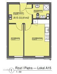 Mieszkanie, 33,81 m², Szczecin