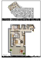 Apartament 3 camere Penthouse Accent Residence metrou Pacii