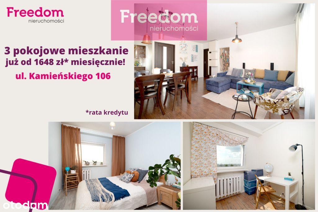 Atrakcyjne 3 pokoje, z balkonem, osobną garderobą