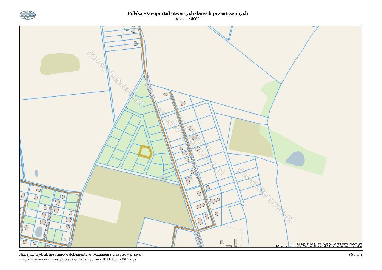 Działki budowlane 1500 m2 w Chojniczkach