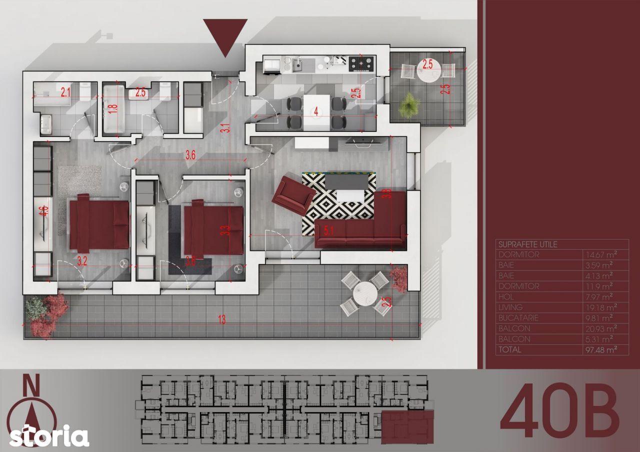 Apartament 3 camere Titan - Parcul Teilor - metrou Nicolae Teclu