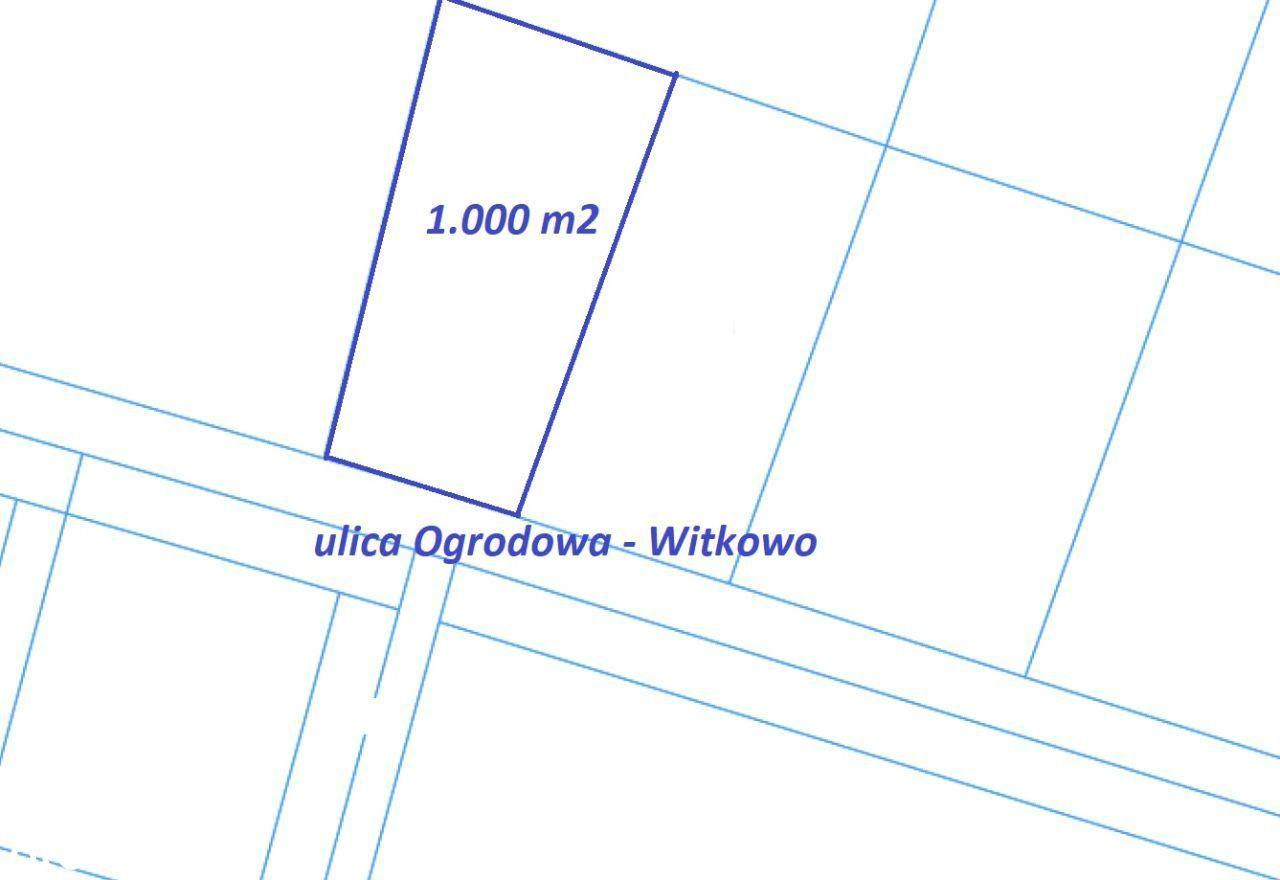 Działka 1.000 m2 Witkowo
