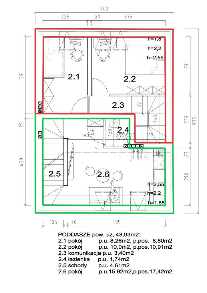 Mieszkania stan deweloperski 37m2 i 62m2. Nawojowa
