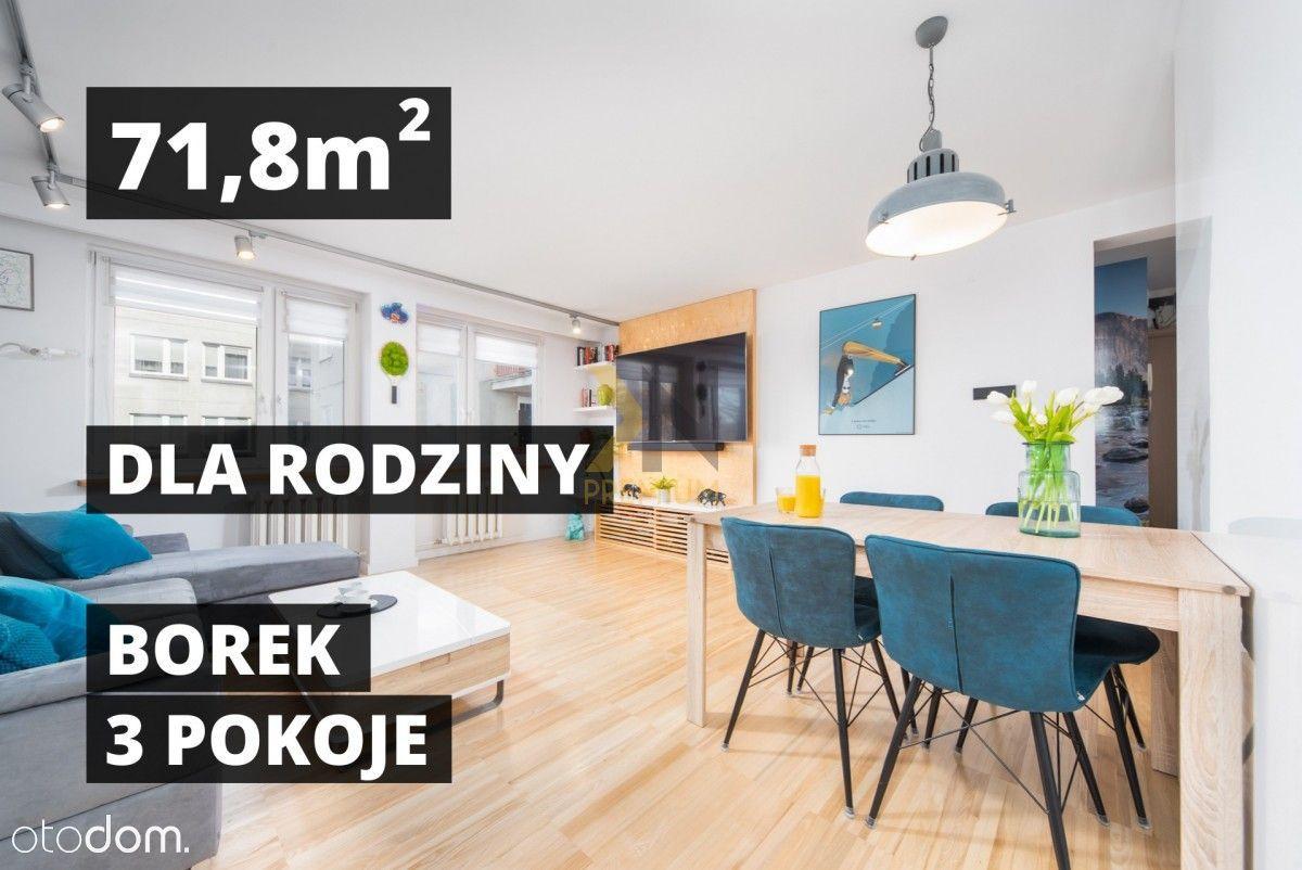 Borek | 72m | 3 pokoje | osobna kuchnia