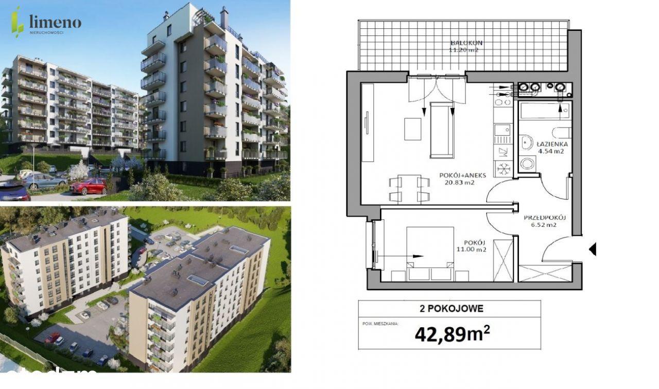2 Etap Osiedla Na Skapie, 2 pokoje 42,89m2.