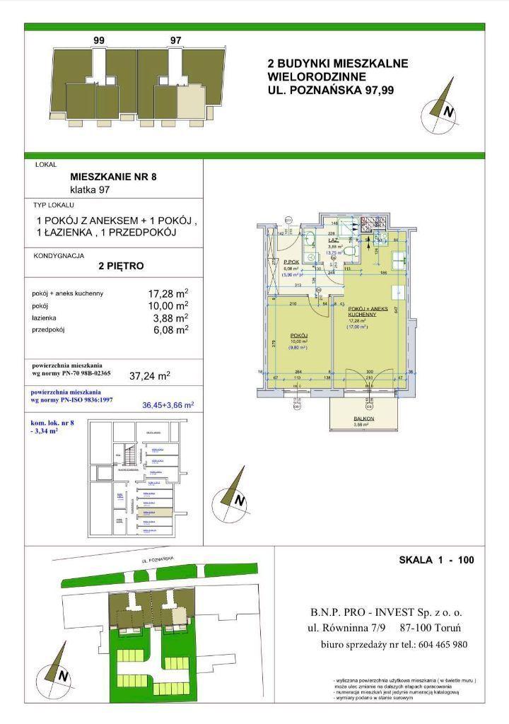 Poznańska 97. Mieszkanie 37,24 m2