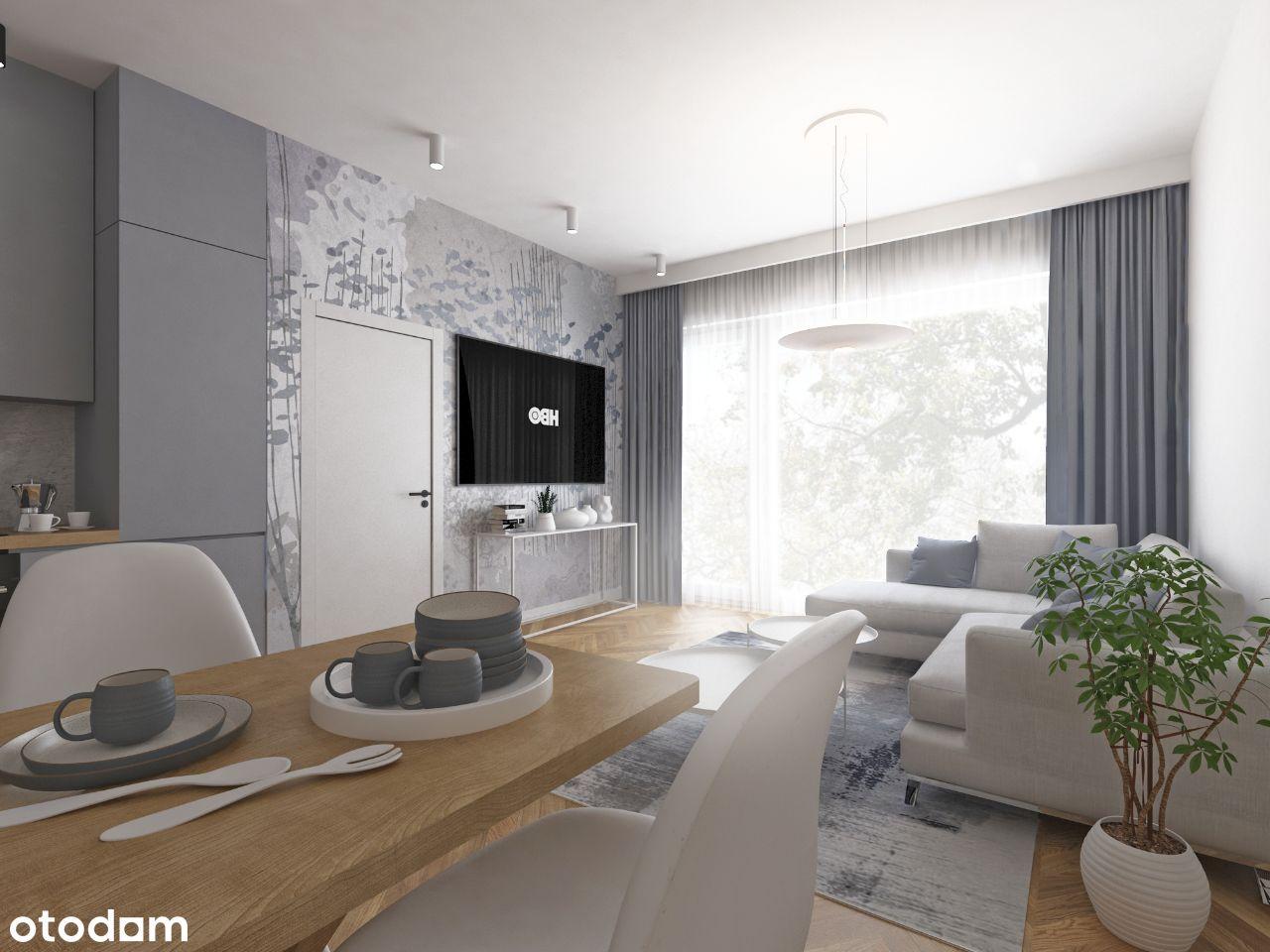 Apartament 2-pokojowy 52,21 m2 z dużym tarasem