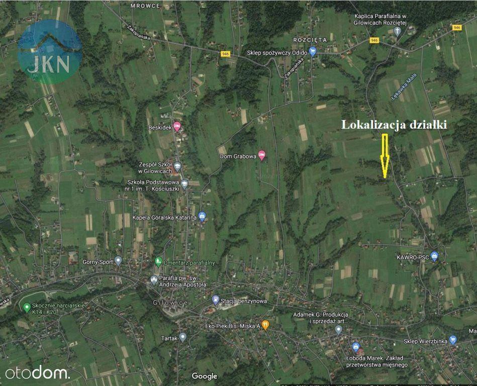 Działka, 1 377 m², Gilowice