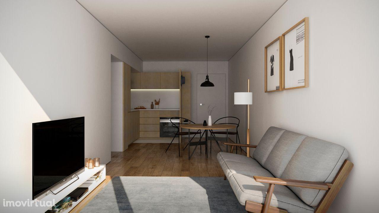 Apartamento T1 - em construção - Costa Cabral
