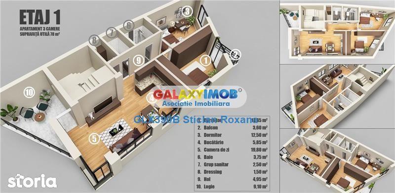 Vanzare apartament 3 camere, bloc nou, Dristor, Mihai Bravu