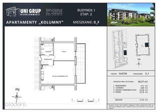 2 pokoje - Lokal F - PARTER - budynek I - etap II