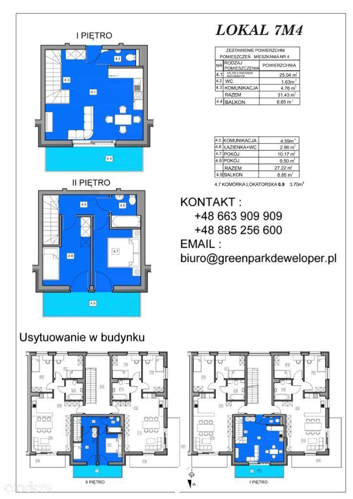 Dwupoziomowe mieszkanie na nowym osiedlu