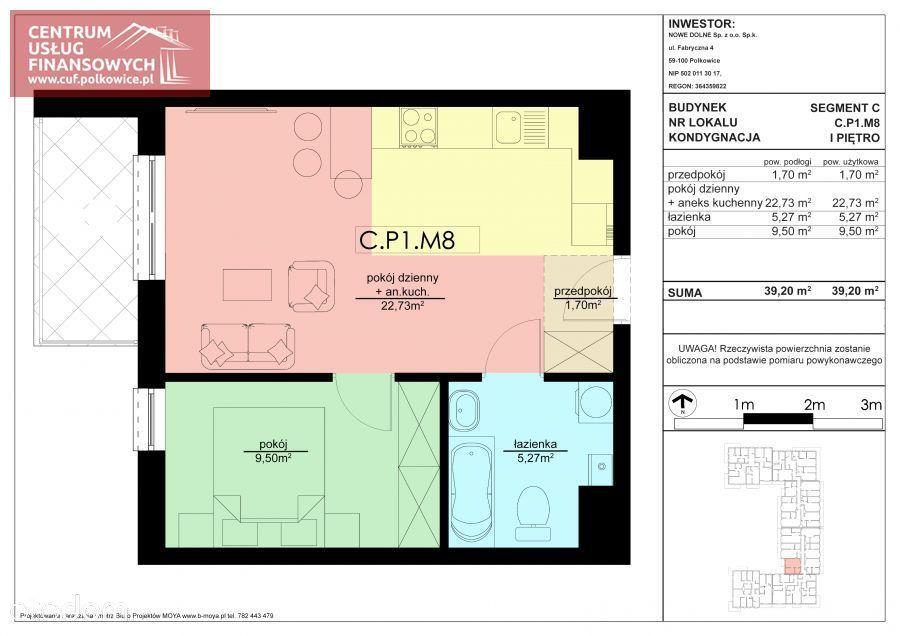 2 pok. 39,34 m2 Nowe budownictwo, Polkowice
