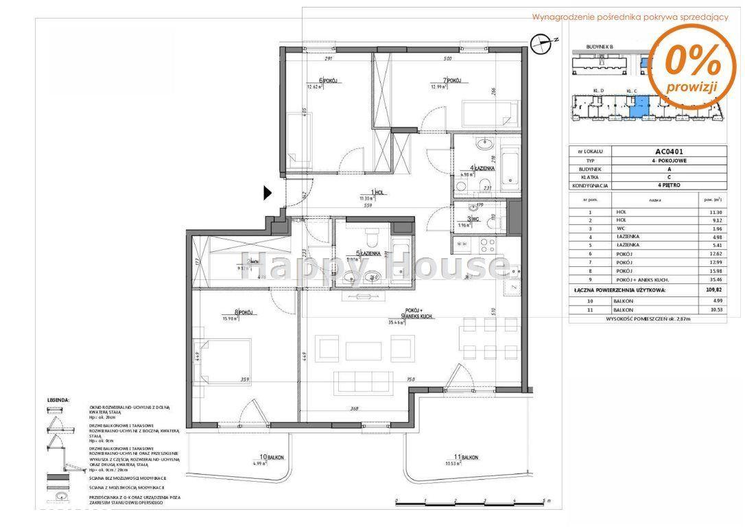 Mieszkanie, 109 m², Warszawa