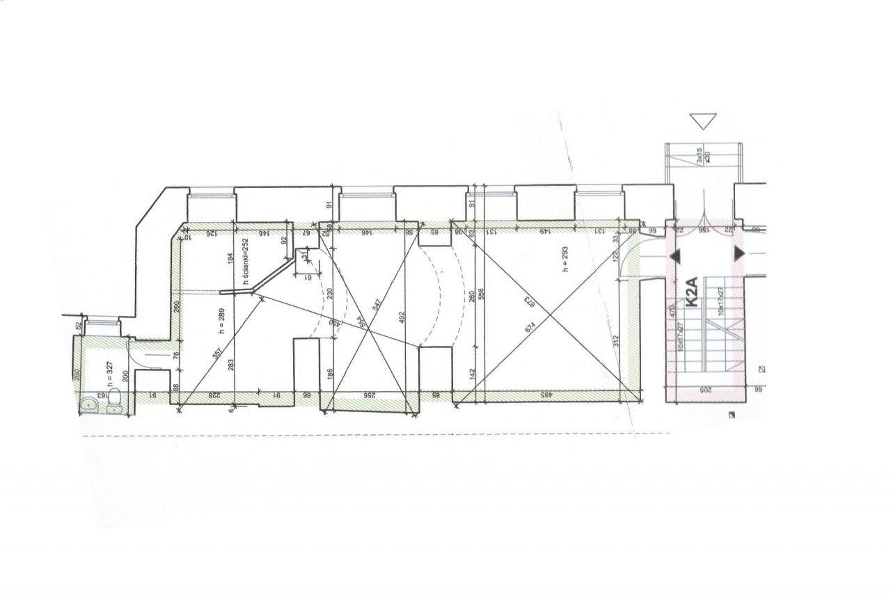 Lokal użytkowy, do remontu, 53 m2, Krowoderska