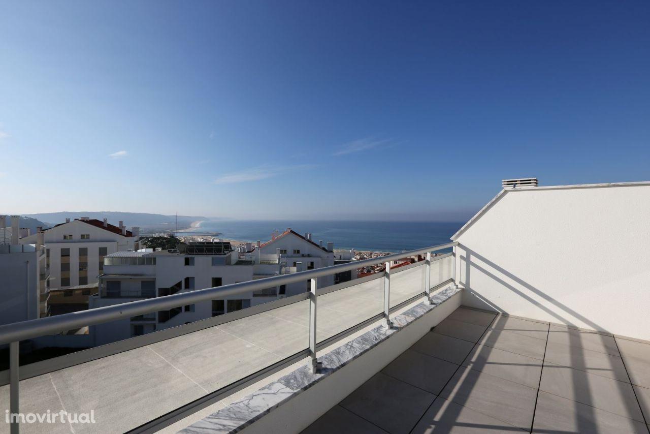 Apartamento T3 com vista mar, virado a sul, Nazaré