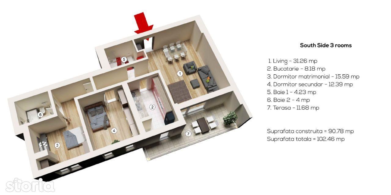 Comision 0% - Apartament 3 camere - Baneasa