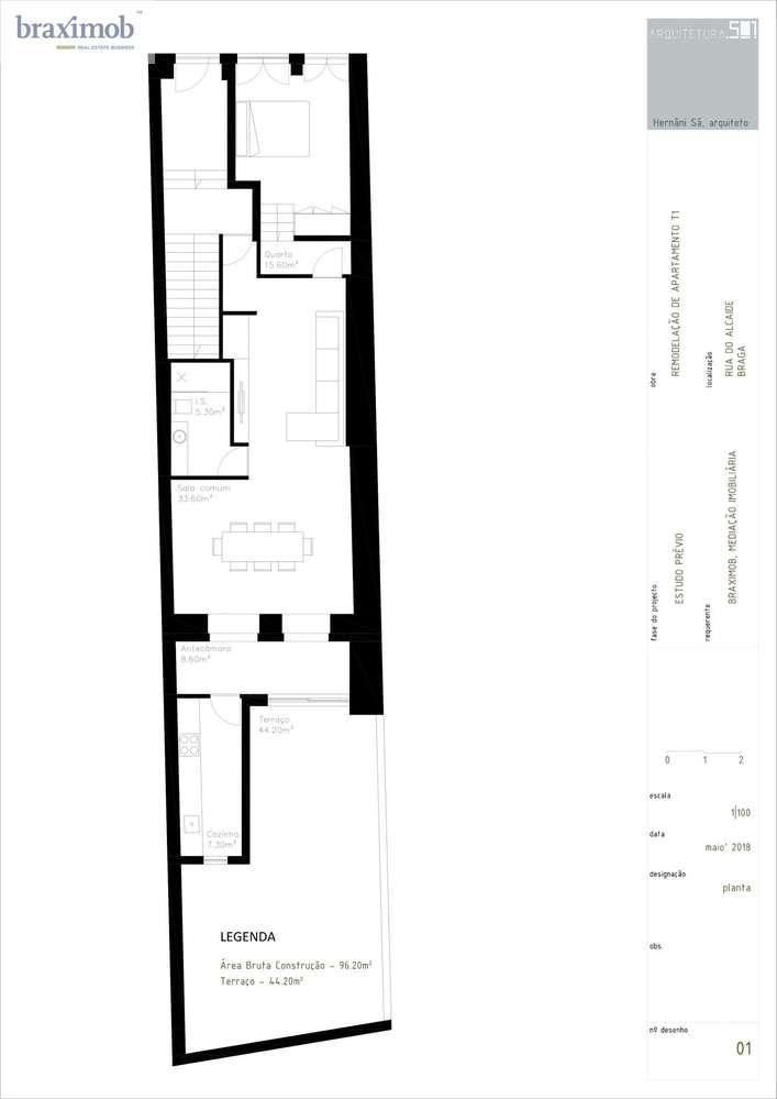 Apartamento para comprar, Rua do Alcaide, Braga (Maximinos, Sé e Cividade) - Foto 2