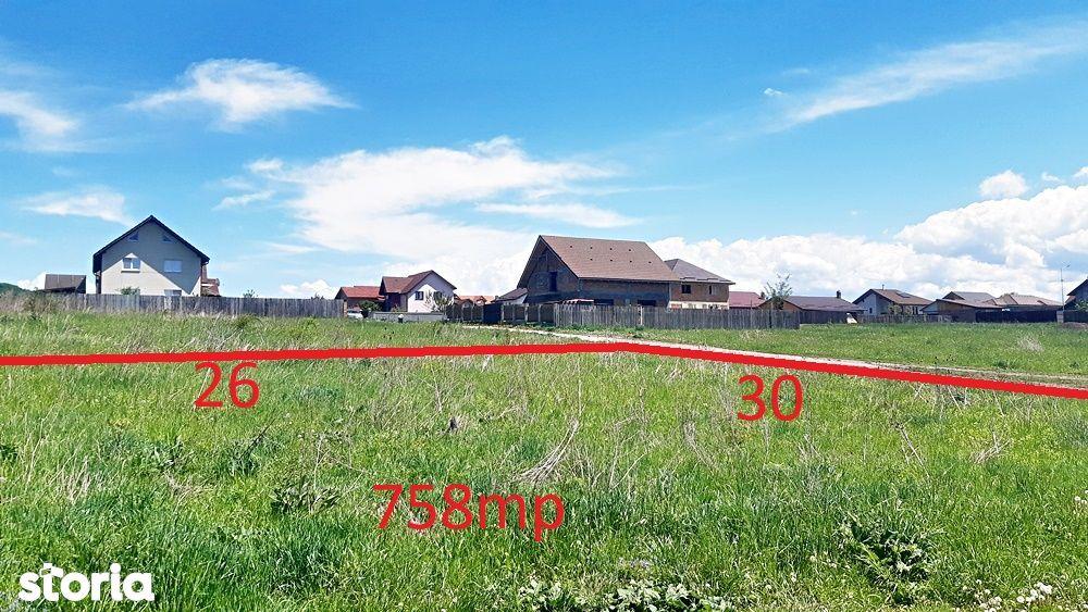 Sanpetru, teren de 758mp, zona de case noi, 29000 euro