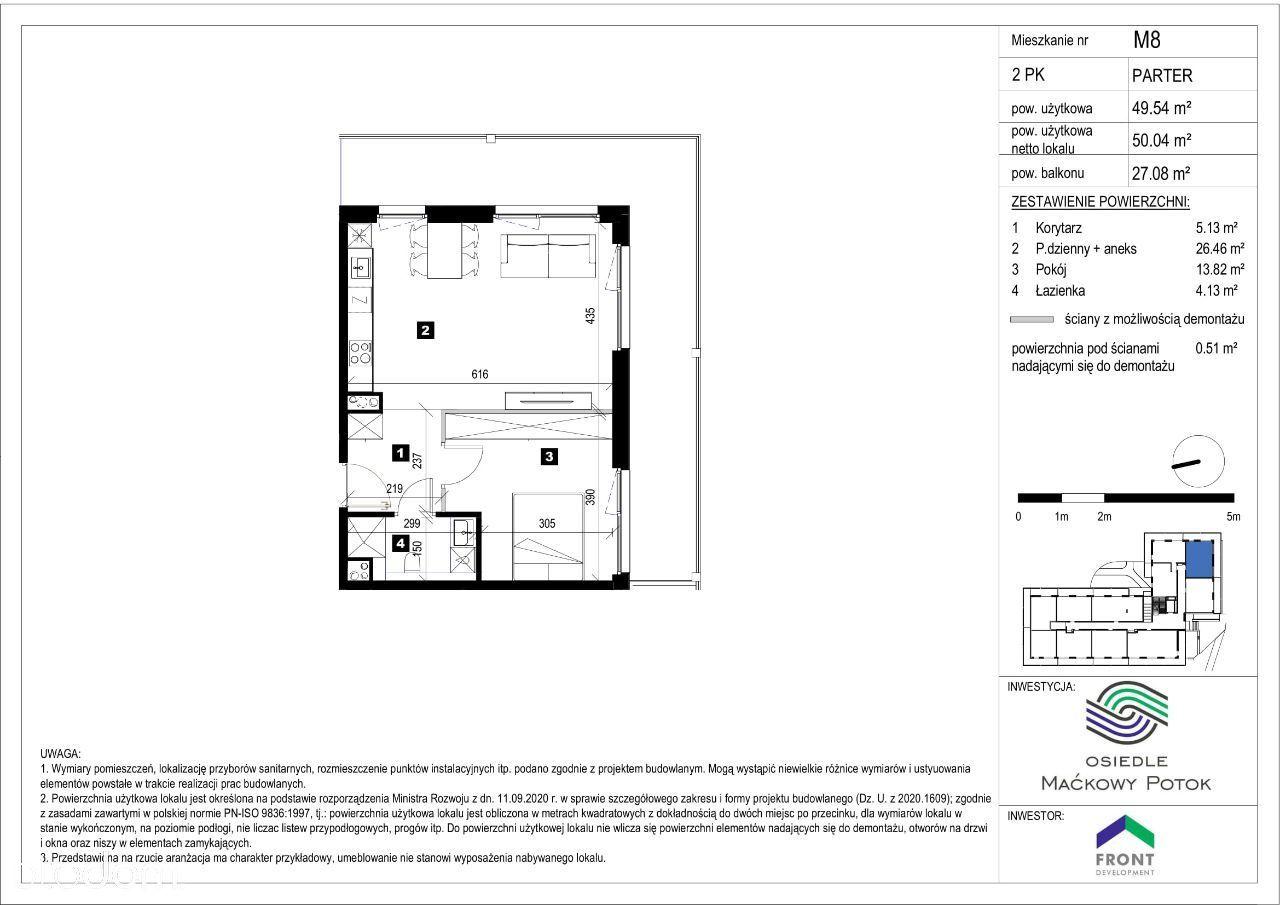Mieszkanie M8 Osiedle Maćkowy Potok