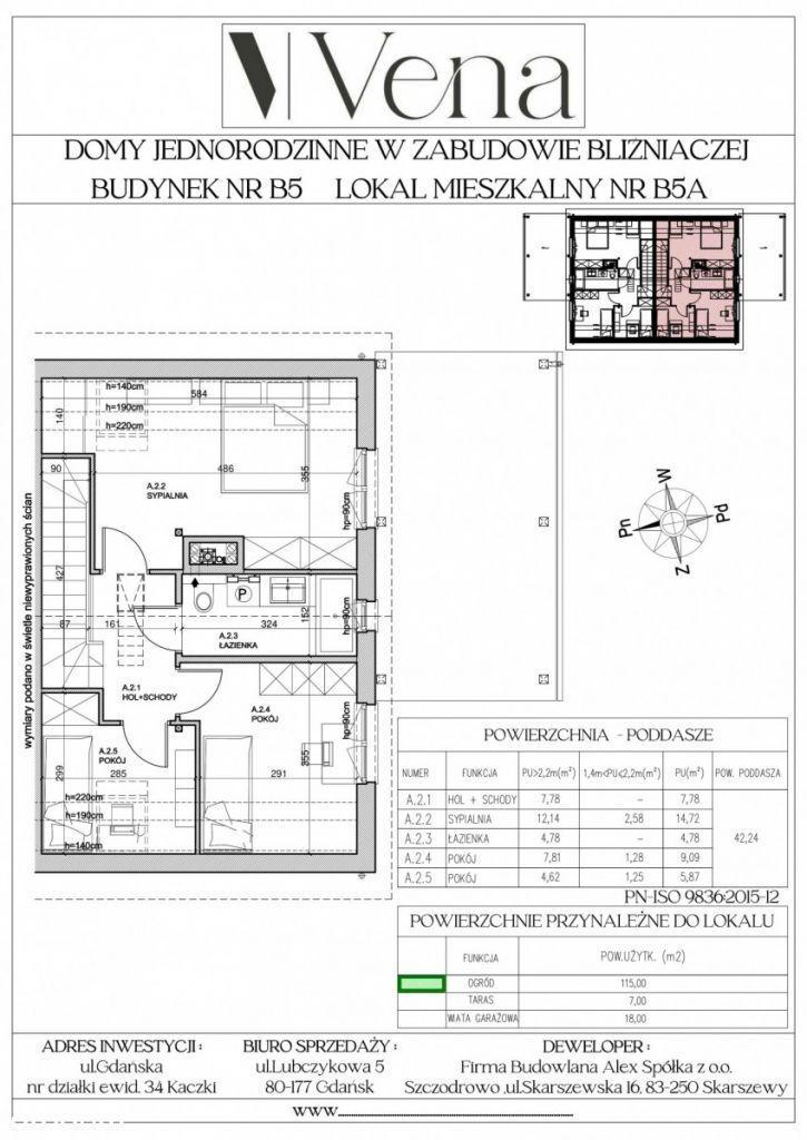 Dom w zabudowie bliźniaczej B5A