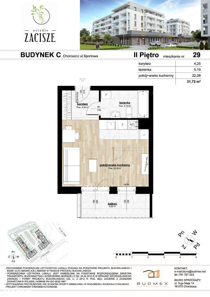 Osiedle Zacisze mieszkanie 2 pokoje duży balkon