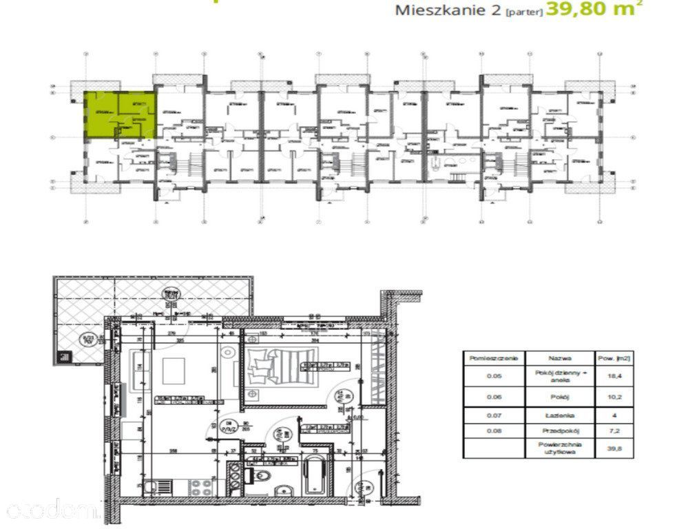 "Nowe Mieszkania ""Zakątek Wielbark"" -Malbork 39.8m2"